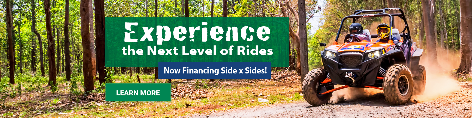 Side by Sides, Motorcycles, RV, Boat Loans and more