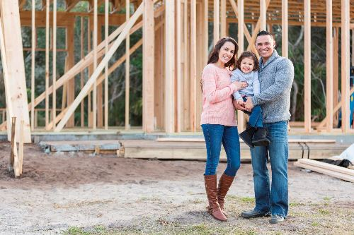 A family building a home thanks to our home loans in Fort Mill, SC
