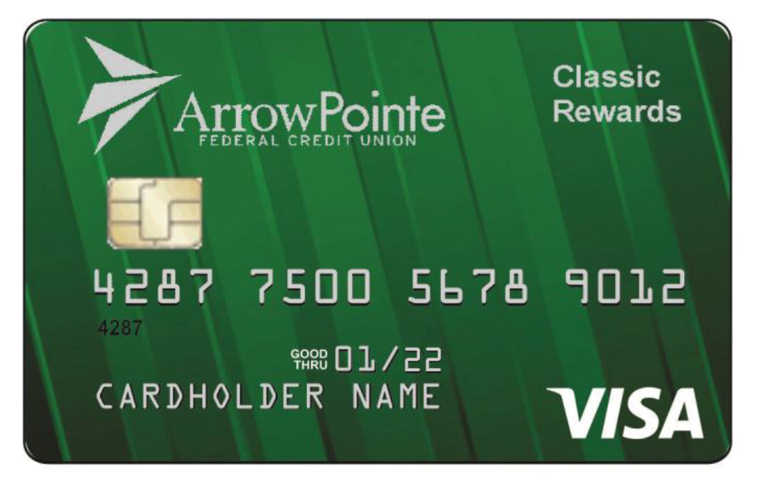 arrowpointe cash back visa credit card