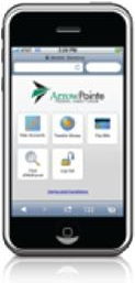 An iPhone featuring the Arrowpointe App